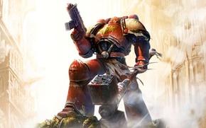 Wallpaper weapons, Dawn Of War, Space Marine, Warhammer