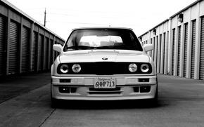 Picture BMW, white, E30, stance