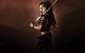 Picture blood, warrior, Sword