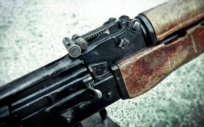 Picture macro, weapons, machine gun, sight, shop, Kalashnikov, shutter, manual, the PKK