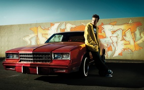 Wallpaper machine, graffiti, car, the series, red, classic, chevrolet, breaking bad, aaron paul, brba, jesse pinkman, ...