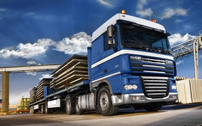 Picture Truck, Wallpaper, Wallpapers, Truck, Tractor, DAF, XF105, DAF, ИксЭф105, Long-length