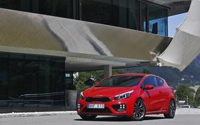 Picture red, Kia, Pro, 3-door, Ceed