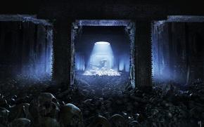 Picture web, stranger, art, skull, abandonment, the room, kev jenkins, Alien vs Predator