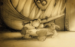 Picture figure, monster, the tea party