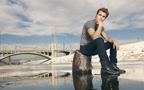 Picture man, actor, Paul Wesley, Paul Wesley, Gentlemen