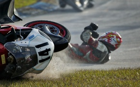 Picture drop, motorcycle, racer, Going Down