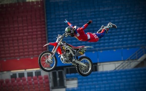 Picture sport, motorcycle, flight