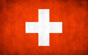 Picture Switzerland, flag, texture