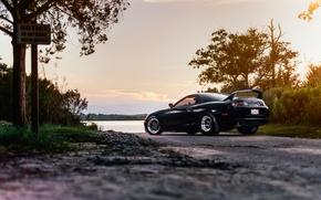 Picture car, auto, black, Toyota, supra, toyota supra