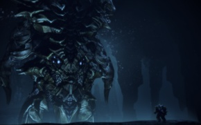 Picture Robot, Under water, Levitan, Mass Effect 3, DLS