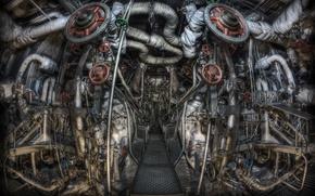Picture background, engine, submarine