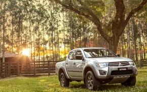 Picture Mitsubishi, pickup, farm, Outdoor, L200, 2016, Triton