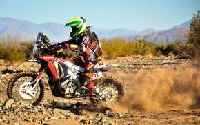 Picture Motorcycle, honda, 2014, Race, Sport, Dakar, Dakar, Moto, Rally