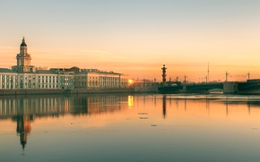 Picture spring, morning, Saint Petersburg