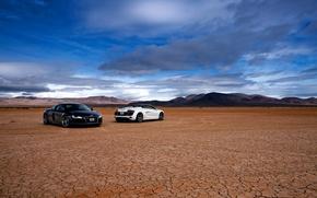 Picture white, the sky, black, desert, the evening, R8 Spyder, AUDI R8