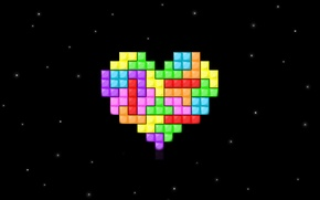 Picture love, heart, Tetris