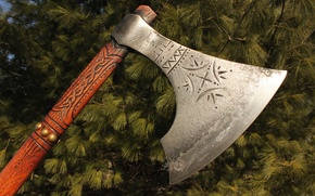 Wallpaper weapons, combat, axe, patterns