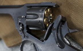 Picture macro, weapons, cartridges, revolver, Webley & Scott