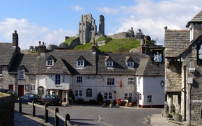 Picture England, home, houses, England, County, Corfe Castle, Dorset, county, Dorset
