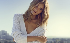 Picture girl, model, hair, view, beautiful, Rosie Huntington-Whiteley