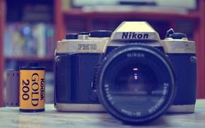 Picture nikon, bokeh, Camera, fm10, Kodak gold