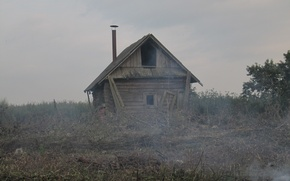 Picture house, smoke, the barn, the ruins, Heath
