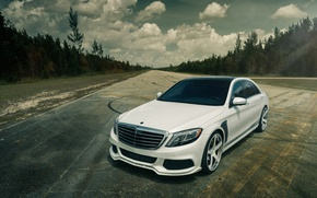 Picture white, Mercedes-Benz, Brabus, BRABUS, Mercedes Benz, S Class, S 550, Vellano Wheels