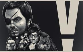 Picture Snake, Metal Gear Solid, konami, fan art, mad, Big Boss, Hideo Kojima, The Phantom Pain, …