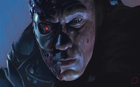 Picture figure, robot, terminator, Schwarzenegger