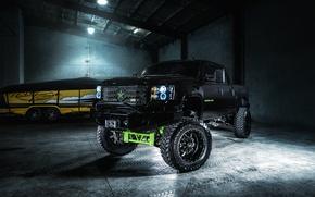 Picture black, Chevrolet, Chevrolet, pickup, Black, Avalanche, avalansh