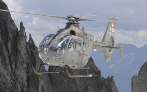 Picture mountains, easy, helicopter, BBC, multipurpose, Eurocopter, EC635, Switzerland