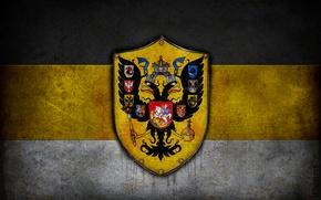 Wallpaper Flag, Empire, Coat of arms