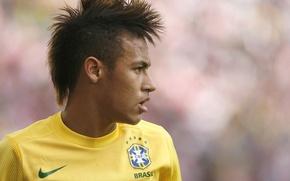 Picture Brazil, striker, neymar, Neymar, Santos