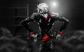 Picture anime, guy, Dogs, lets make some chaos, Bullets & Carnage