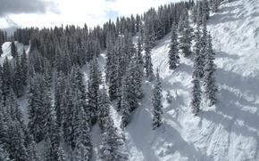 Wallpaper mountain, snow, slope, winter