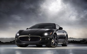 Wallpaper Maserati, GranTurismo-S, black
