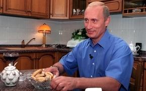 Wallpaper Bagels, Kitchen, Vladimir Putin