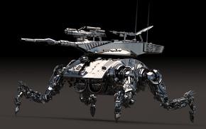 Wallpaper robot, metal, machine, background, fur, style, weapons