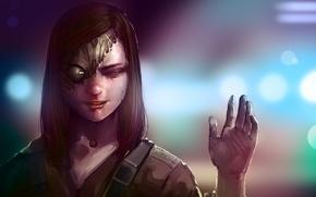 Picture girl, fiction, figure, skull, art, sake, girl, cyborg, tricky, cyberpunk, art, sci-fi, cyberpunk, squint, cyborg, …
