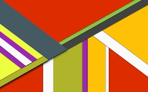Picture yellow, red, grey, geometry, design, color, material