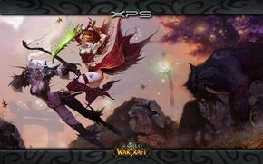 Picture battle, elf, world of warcraft