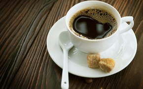 Picture macro, background, Wallpaper, coffee, sugar, Cup of coffee, table.spoon