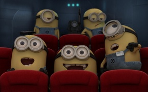 Picture emotions, movie, despicable me, minions