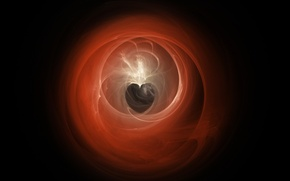 Picture background, dark, Heart, Abstraction