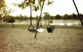 Picture sand, swing, chain