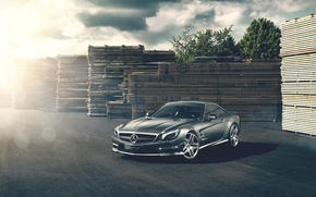 Picture The sun, Mercedes, Board, Mercedes, Benz, AMG, Before, SL63, Benz