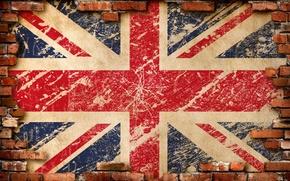 Picture brick, texture, flag