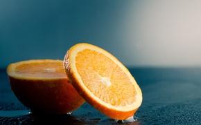 Wallpaper fruit, orange, cut