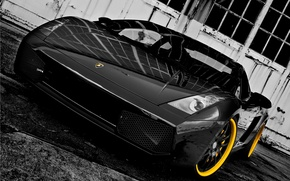 Picture machine, black, Lamborghini, 360 three sixty forged, Lamborghini Gallardo